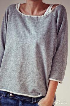 So hab ich das vor: Else, Shirtlänge, V-Ausschnitt, 3/4 ...