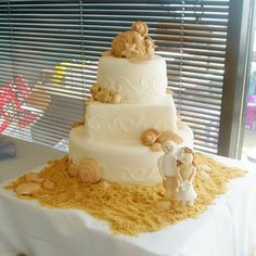 Life is a beach....and now so is your wedding cake