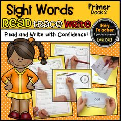 This sight word pack is includes the Dolch primer sight words.  It is a meaningful and engaging way to have students read, trace, and write sight words in context!