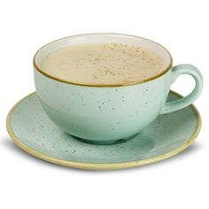 Perfect for a rustic look, the design of the Churchill Stonecast Cappuccino Cup & Saucer has been inspired by the look of an egg shell in duck egg blue.