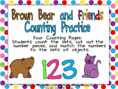 Brown Bear Counting Freebie :) Check out Kindergarten Celebration!!
