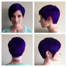 #demaj #demajsalon #eriesalon #coloradosalon #pixie #purplehair #shorthair #pravana #pixiecut #funhair Colorful Hair, Pixie Cut, Purple Hair, Salons, Cool Hairstyles, Short Hair Styles, Hair Color, Magic, Pixie Buzz Cut