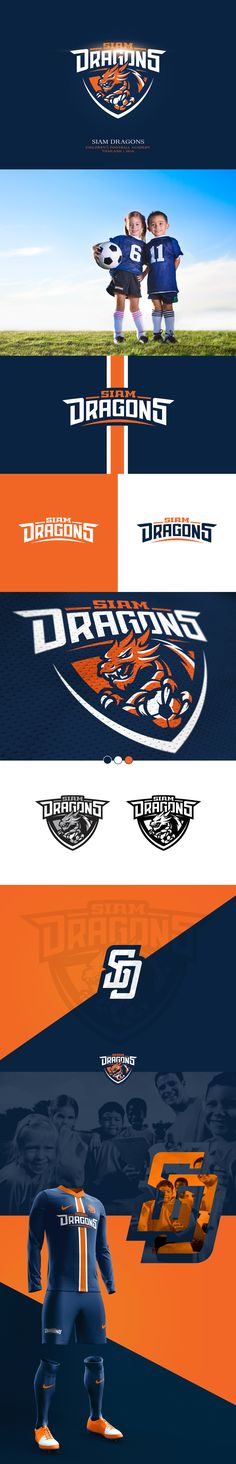 Logo for Siam Dragons | Children's Football Academy based in Thailand