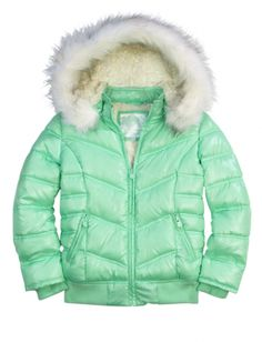 New Justice Faux Fur Bomber Jacket For Girls  Size 10 Justice Super Cute