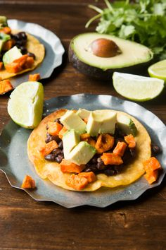 We love these quick and easy vegetarian sweet potato tostadas!