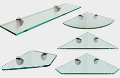 Dulles Glass corner shelf store offers corner shelves, floating glass shelves, glass shelves for bookcases and window sill glass shelves for your home & storage organization needs.