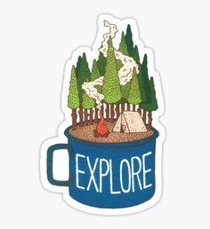 Explore Mug Sticker