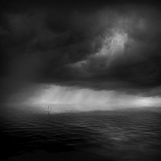 Dark sky on dark water