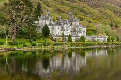 Kylemore Abbey in the, Connemara mountains of Ireland