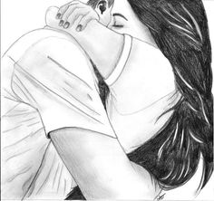 """A tale of my life- """"I dare to move with him to live"""" cartoon hug Cute Couple Drawings, Girl Drawing Sketches, Cute Couple Art, Girly Drawings, Pencil Art Drawings, Love Drawings, Cute Couples, Sketches Of Couples, Hugging Couple Drawing"""