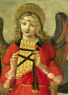 Raffaellino del Garbo (bottega di) - La Vergine col Bambino e due angeli, dettaglio - circa 1500-1510 National Gallery, London
