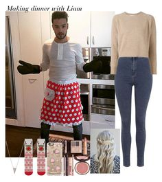 """""""Making dinner with Liam"""" by aasne-midtbo ❤ liked on Polyvore featuring Payne, Topshop, Marni, Charlotte Tilbury, Casetify and Adina Reyter"""
