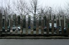 outdoor mirror installation at the german architectural center, Berlin