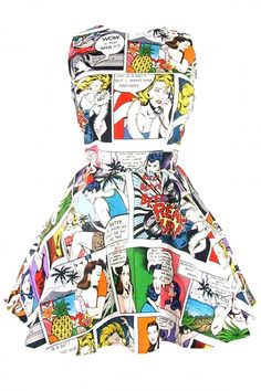 Inked Boutique - Comic Strip Skater Dress I Retro Vintage Inspired Rockabilly Pinup Clothing http://www.inkedboutique.com