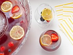 Pomegranate Rum Punch for a Crowd recipe  via Food Network