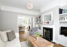 Lounge / Dining room Cottage Dining Rooms, Open Plan Kitchen Living Room, Home Living Room, Living Room Decor, Living Room Knock Through, Interior Design Living Room, Living Room Designs, Alcove Ideas Living Room, Gypsy Home Decor