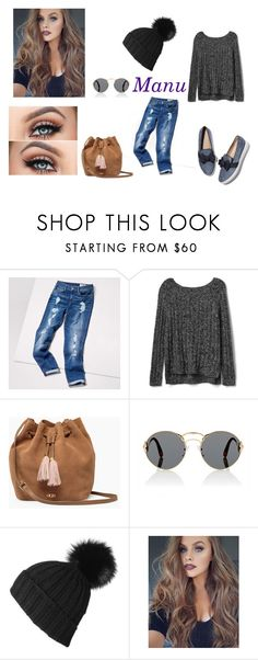 """Look da Manu"" by gikaulitz on Polyvore featuring Tommy Hilfiger, Gap, UGG, Prada and Black"