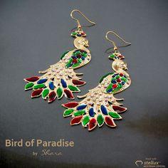 Birds of Paradise Paradise, Birds, Drop Earrings, Jewelry, Jewlery, Bijoux, Schmuck, Bird, Drop Earring