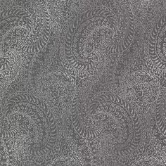 Daraxa Black Paisley  Taking this modern paisley design to new heights, this chic wallcovering has high-fashion appeal. A distressed black canvas painted in luxurious metallic inks is both handsome and refined!
