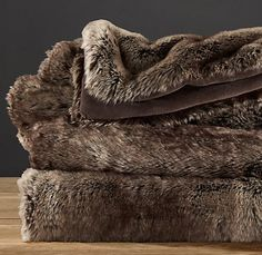 Restoration Hardware faux fur throw in Mink. so soft. Faux Fur Blanket, Faux Fur Throw, Queen Size Blanket, Bridesmaids And Groomsmen, Leather Recliner, Cozy Blankets, Soft Surroundings, Restoration Hardware, Party Gifts