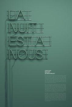 字體設計(47)3D Neon 霓虹燈字體設計