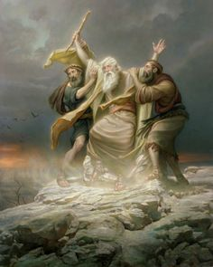 On a hill (like a temple—a place set apart from and above the commotion of battle), Aaron and Hur sustained God's prophet, Moses, as he sat upon a stone (reminiscent of the Rock of our Redeemer http://facebook.com/173301249409767, a sure foundation in unsure times) lifting his hands so Israel would prevail (see Exodus 17:8-12 http://lds.org/scriptures/ot/ex/17.8-12#7). Enjoy from the Holy Bible http://facebook.com/212128295484505