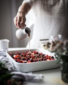"6,065 Likes, 82 Comments - Kayley McCabe (@thekitchenmccabe) on Instagram: ""Who could say no to a big dish of berries.... . http://thekitchenmccabe.com/2017/08/20/blackberry-…"""