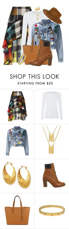 """""""FALL 2016 #29 by Shaunslay"""" by shaunslay ❤ liked on Polyvore featuring Preen, Alice + Olivia, HMY Jewelry, NEST Jewelry, Timberland, Michael Kors, Cartier and Hat Attack"""