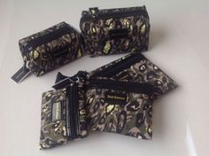 Juicy Couture Rectangle Zip Cosmetic Makeup Travel Bag Bags Set Camouflage Camo