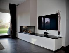 Foto's Invento moderne haarden Living Room Decor Fireplace, Home Fireplace, Modern Fireplace, Fireplace Design, Home Living Room, Living Room Designs, Muebles Living, Family Room, New Homes