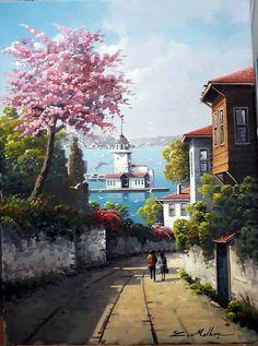 Watercolor Landscape, Landscape Paintings, Watercolor Paintings, Nature Pictures, Art Pictures, Relaxing Art, Oil Painting Pictures, Oil Pastel Art, Pics Art