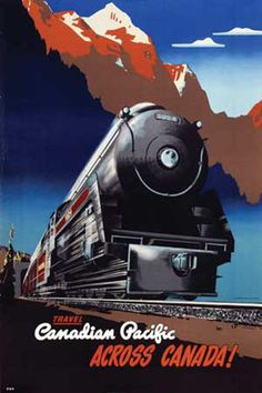 Travel the Canadian Pacific across Canada! #vintage