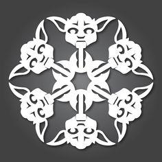 Yoda Paper snowflakes