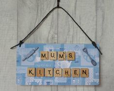 Mums Kitchen sign Birthday gift for Mum Gift for Cook Mum Birthday Gift, Birthday Gift Baskets, Birthday Gifts For Women, Gifts For Cooks, Gifts For Mum, Mother Gifts, Mothers, Button Family Picture, Family Picture Frames