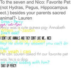 ok Hey guys! this is part one of favorite pet! if you have a question for the 7 or any of there friends comment. all will be answerd! ~Jzurnee Myers asked by: @LaurenTheNerd part 2 will be up shortly hope you like it!
