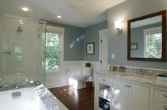 Master Bathroom, love the colors, very pretty.