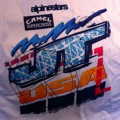 """JMB Shirt. 1991 USA """"Totaly"""" champion. SX 250, MX 250, MX 500."""