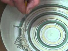 The ceramic drawing technique - YouTube