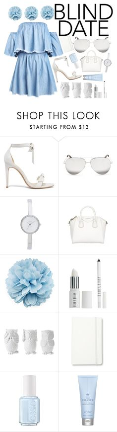 """""""Blind Date"""" by gucci-af ❤ liked on Polyvore featuring Alexandre Birman, Victoria Beckham, DKNY, Givenchy, Gucci, Lord & Berry, Design 55, Moleskine, Essie and Drybar"""