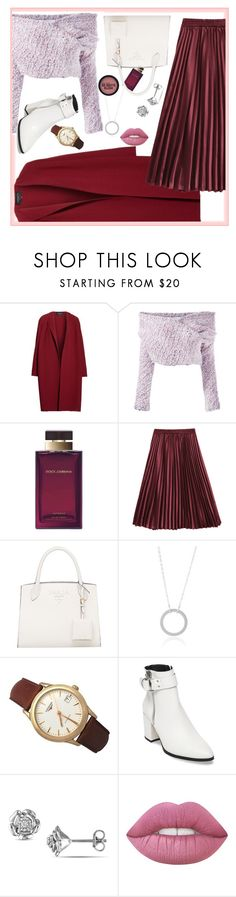 """#6"" by natachataudin ❤ liked on Polyvore featuring Lafayette 148 New York, Daizy Shely, Dolce&Gabbana, Longines and Steve Madden"