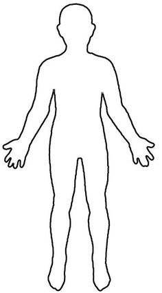 blank doll paper outline human body template drawing