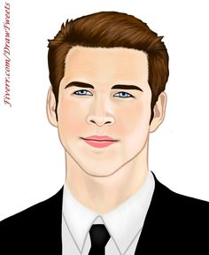 Hansome Liam Hemsworth Wearing a Suit- An art piece inspired by Liam Hemsworth, an Australian actor. Liam Hemsworth ‪#‎Hansome‬ ‪#‎LiamHemsworth‬ ‪#‎BlackSuit‬ ‪#‎Caricature‬ ‪#‎Art‬ ‪#‎Drawing‬