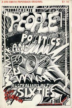 Martin Sharp's illustrations for People, Politics and Pop by Craig McGregor: Design Observer