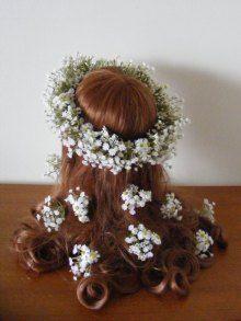 シンプルに☆ かすみ草の花冠&ヘアパーツ♪ |Ordermade Wedding Flower Item MY FLOWER ♪ まゆこのブログ