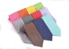 Mens Gingham Neck Tie (Various colors)