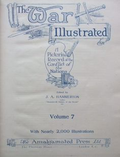 THE WAR ILLUSTRATED Volume Seven Title Page