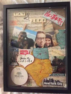 Shadow box. Crafts. Gift. Boyfriend. Best friend. Memories. Scrapbook.