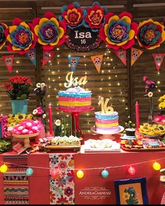 Quinceanera Party Planning – 5 Secrets For Having The Best Mexican Birthday Party Mexican Birthday Parties, Mexican Fiesta Party, Fiesta Theme Party, Party Themes, Party Ideas, Quinceanera Decorations, Quinceanera Party, Frida Kahlo Party Decoration, Mexico Party