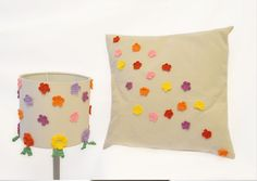 Crochet Lampshade and Pillow Cover Ensemble by SpecialFabrics