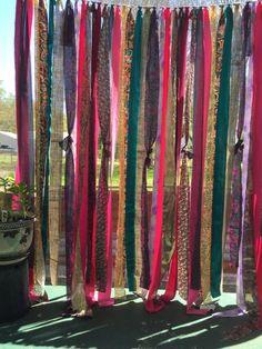 Gypsy Curtain  Boho Hippie Curtain Gypsy by LoveIndustrialLiving